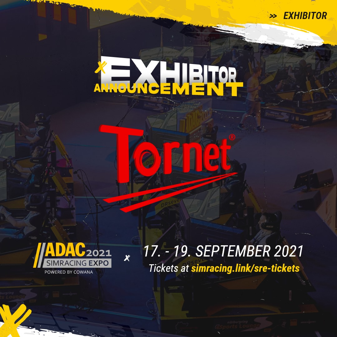 TORNET COMES TO ADAC SIMRACING EXPO 2021 WITH PRODUCT LAUNCH